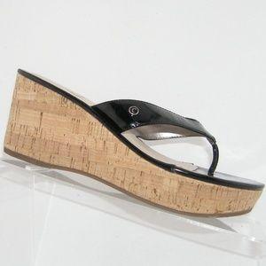 Circus by Sam Edelman Raquel black thong sandal 6M